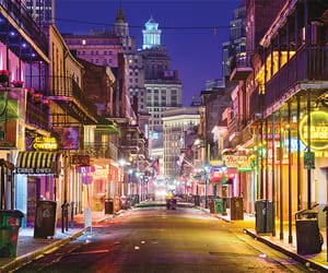 city, lights, and new orleans image