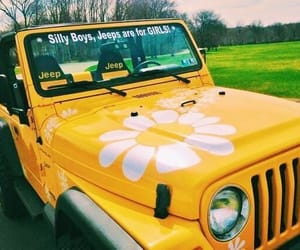 jeep and yellow aesthetic image