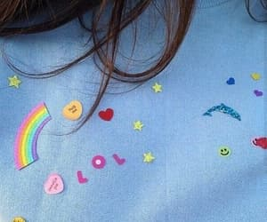 aesthetic, blue, and rainbow image