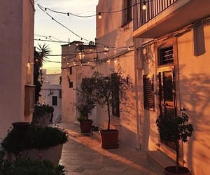 travel, light, and sunset image