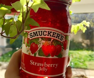 jam, strawberries, and strawberry jam image