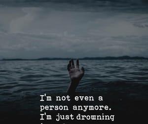 drown, sadness, and Useless image