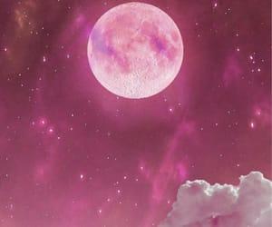beauty, moon, and heaven image