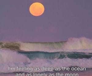 quotes, lonely, and moon image