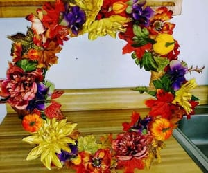 colors, wreath, and crafting image