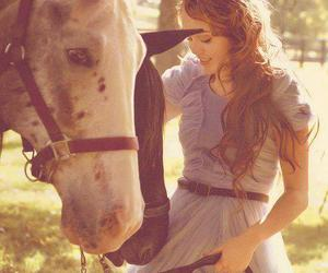 miley cyrus, horse, and miley image