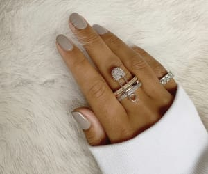 nails, diamond, and fashion image