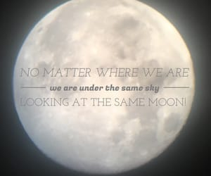 distance, moon, and quote image