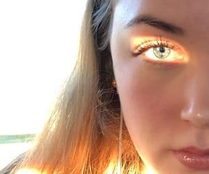 eye, sunlight, and goldenhour image