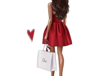 dior, dress, and art image
