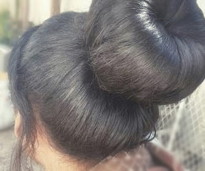 bun, hairstyle, and style image