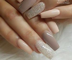 girl, glitter, and nails image