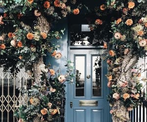 flowers, door, and aesthetic image