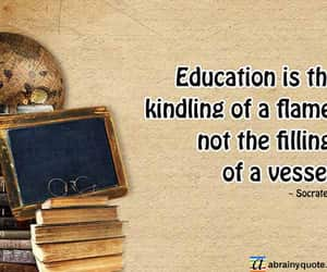 education, socrates, and education quotes image