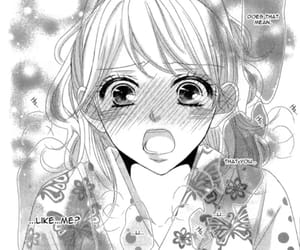 girl, monochrome, and manga love image