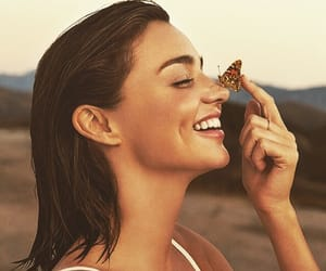 girl, miranda kerr, and butterfly image