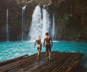 travel, couple, and nature image