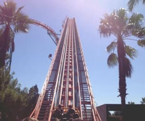 feeling, rollercoaster, and summer image