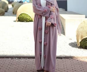 abaya, clothing, and hijab image