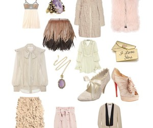 coat, heels, and jewelry image