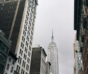 empire state, grey, and new york image