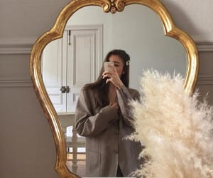 girl, mirror, and fashion image