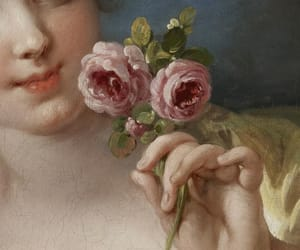 art, roses, and girl image