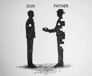 dad, family, and father image