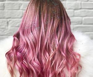 pink glitter hair image