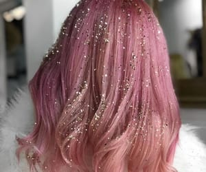 fashion, glitter, and hair image