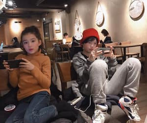 asian, children, and couple image