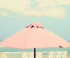 beach, summer, and pink image