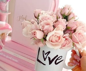 pink, rose, and love image