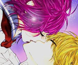 kiss, manga, and paint image