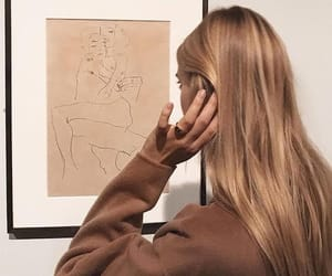art, beige, and hair image