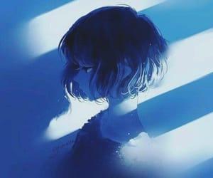 blue and illustration image