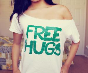 free hugs, girl, and hug image