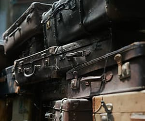 antique, suitcases, and old image