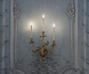 candle, blue, and light image