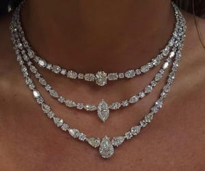 diamonds, luxury, and necklace image