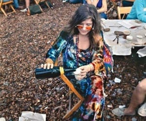 janis joplin, 60s, and hippie image