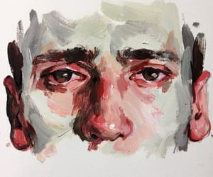 art, face, and painting image