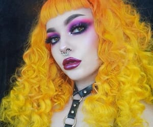 yellowhair, unicornhair, and coloredhair image