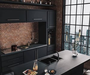 home, apartment, and kitchen image
