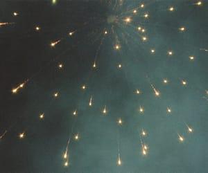 fireworks, sky, and light image