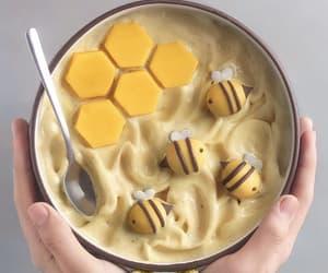 food, yellow, and bee image