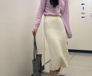 cardigan, fashion, and lavender image