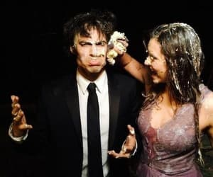 ian somerhalder, Nina Dobrev, and tvd image