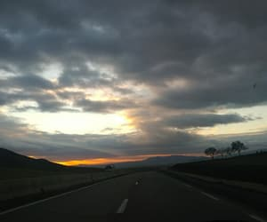 Algeria, sunset, and on the road image