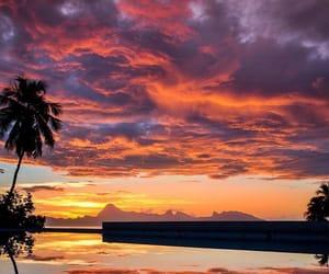 clouds, orange, and skies image